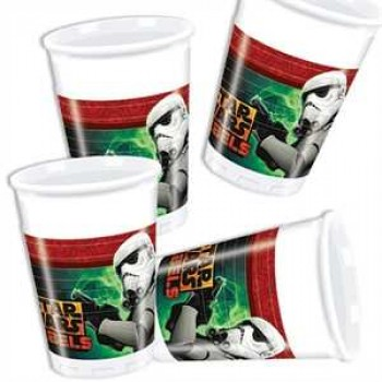 Star Wars Rebels Partybecher Plastik 200ml 8er