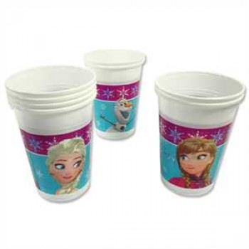 Frozen Northern Lights Partybecher Plastik 200ml 8er