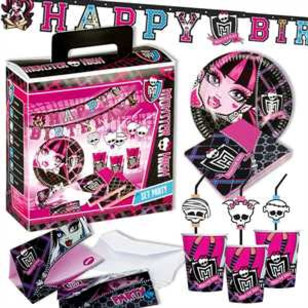 Partykoffer Monster High 51-teilig