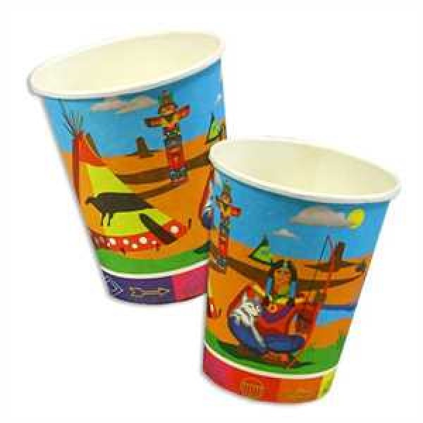 Indianer Partybecher Pappe 250ml 8er