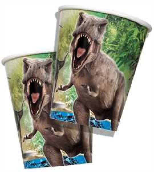 Jurassic World Partybecher Pappe 266ml 8er