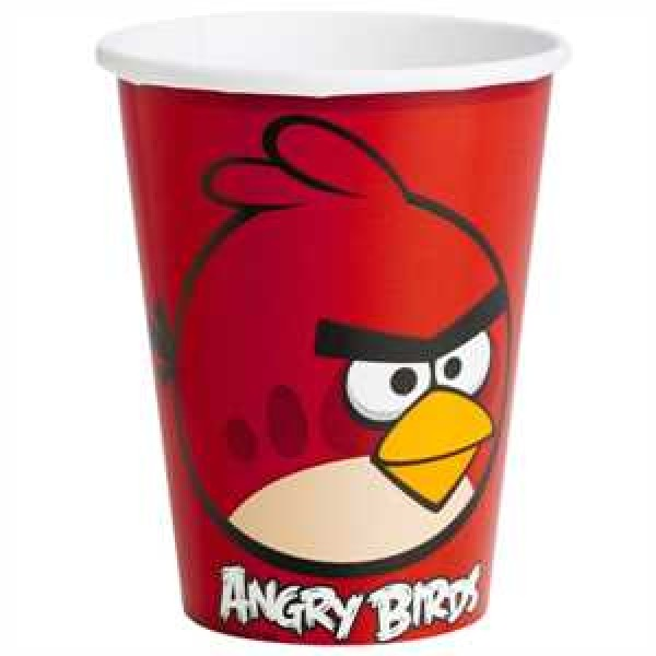 Angry Birds Partybecher Pappe 266ml 8er