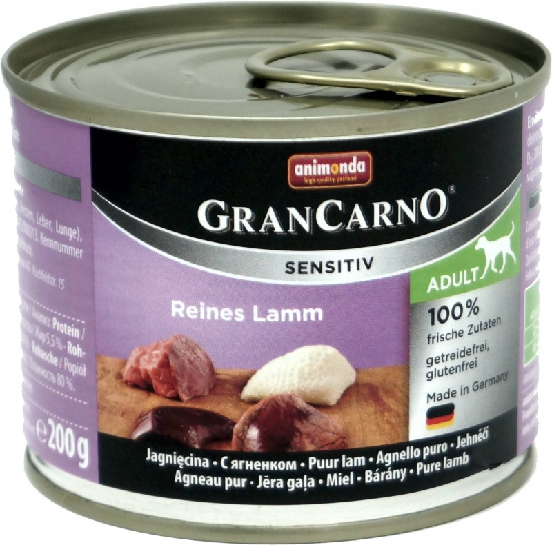 Animonda GranCarno Adult Sensitive Lamm pur 6x200g