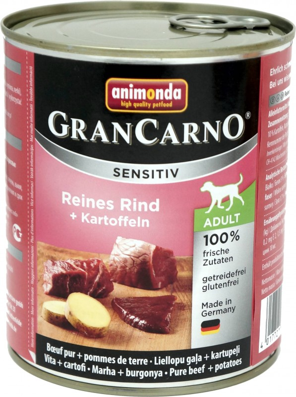 Animonda GranCarno Adult Sensitive Rind + Kartoffeln 6x800g