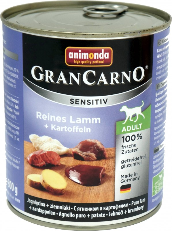 Animonda GranCarno Adult Sensitive Lamm + Kartoffeln 6x800g