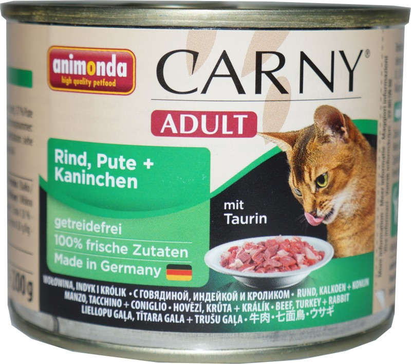 Animonda Cat Dose Carny Adult Rind & Pute & Kaninchen 6x200g