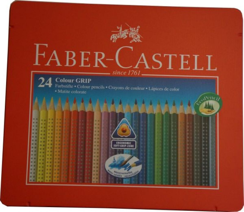Faber-Castell Farbstift Colour GRIP 2001 24er Metall-Etui