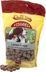 Classic Dog Snack Cookies Lamm-Drops 500g